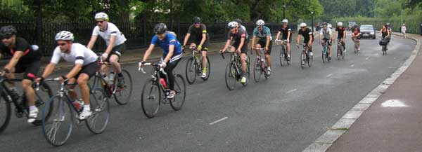 Peloton on Outer Circle