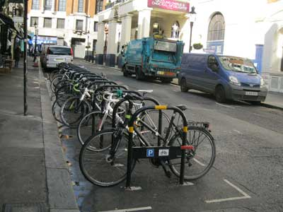 Cycle Parking in Catherine Street