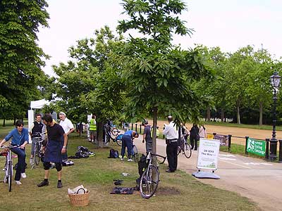 Dr Bike in Hyde Park (Rotten Row)