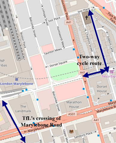 Map of Glentworth Street